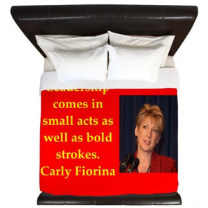 2016 Gifts > 2016 Bedroom Décor > carly fiorina quote King Duvet
