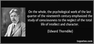 On the whole, the psychological work of the last quarter of the ...