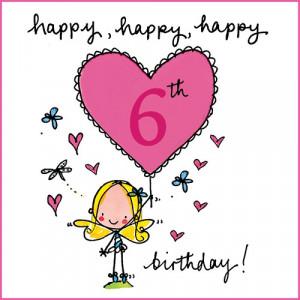 happy 6th birthday girl