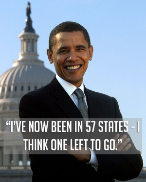 President Barack Obama foolishly revealing the eight secret states ...