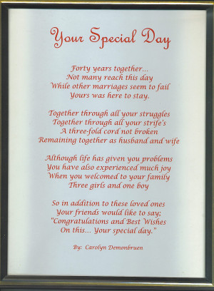 Wedding Day Gift Quotes : Our Wedding Poems And Quotes. QuotesGram