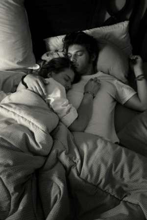When he falls asleep with his face turned toward you, he is in love.