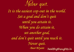 Never Quit-Bear Bryant