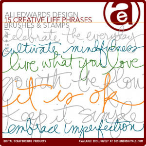 Creative Life Phrases Brushes and Stamps