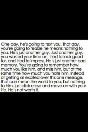 forget him #get over #text #move on #better to come #stay strong