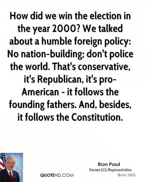 ... conservative, it's Republican, it's pro-American - it follows the