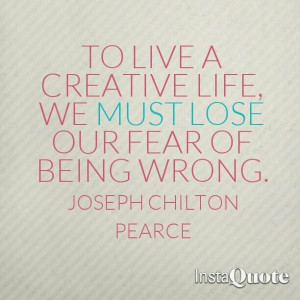 Live a creative life #quote
