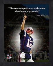 Tom Brady New England Patriots 8x10 Black Wood Framed Pro Quotes Photo ...