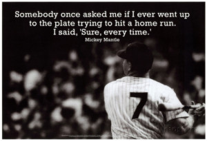 Mickey Mantle Home Run Quote Sports Archival Photo Poster Masterdruck
