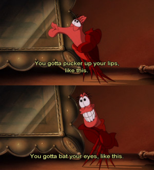 disney, kiss, quote, saying, sebastian, text, the little mermaid ...