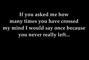 you never really left...