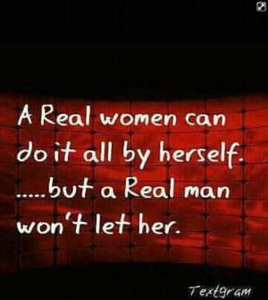 need a real man