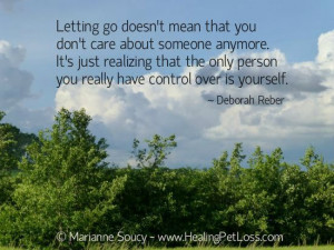 Letting go quote - Healing Pet Loss