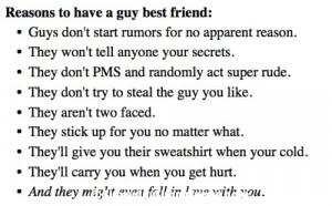reasons to have a guy best friend Reasons To Have A Guy Best Friend