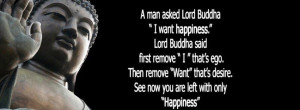 am reminded of a story about a man who sought the wisdom of Buddha.