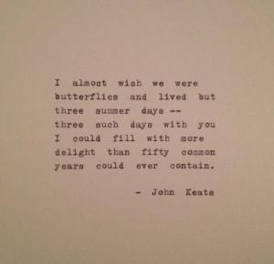 Lovely John Keats quote