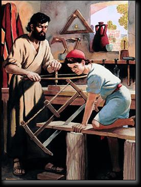 Jesus at work with Joseph