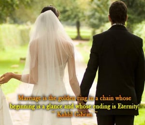 Marriage is the golden ring in a chain whose