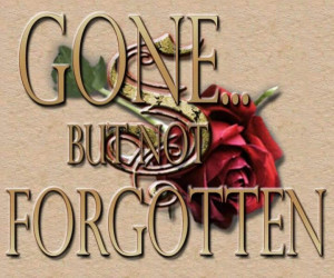 Gone But Not ForGotten. Never will I forget you!! I am destroyed ...