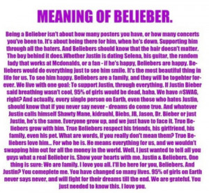 Belieber Quotes In the world beliebers