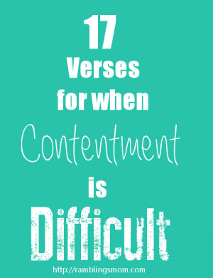 Christian Contentment Verses for contentment