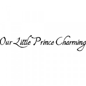 Our Little Prince Charming...Nursery Wall Quotes Words Sayings ...