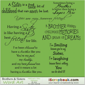 Brothers & Sisters Word Art - $3.00