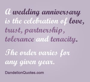 Wedding Anniversary is the celebration of love,trust,Partnership ...