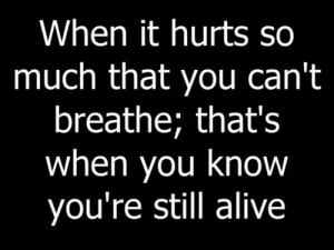 When It Hurts... - quotes Photo