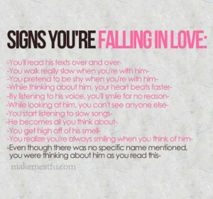 12 Signs your falling in Love..