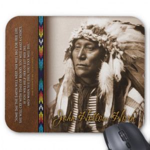 Inspirational Native American quote mousepad