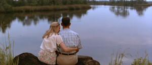 ... (Jenny Curran) and Tom Hanks (Forrest Gump) in Forrest Gump (1994