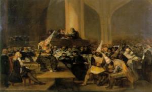 "... account."" (Michel de Montaigne) Francisco Goya, Spanish Inquisition"