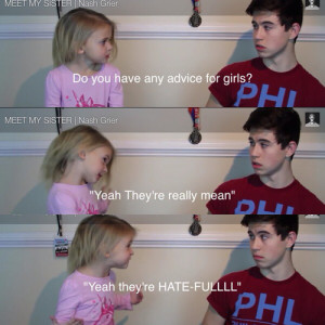 ... for this image include: nash grier, blue eyes, fact, girl and quote