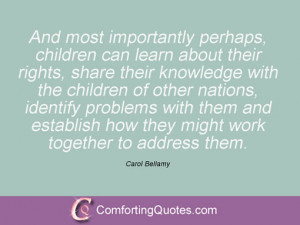 Carol Bellamy Quotes And Sayings