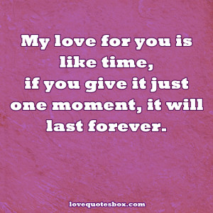 my love for you is forever quotes