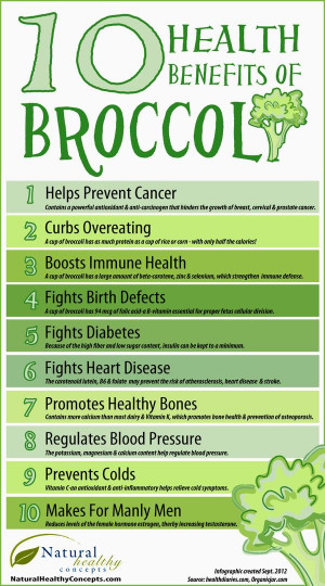 Infographic: 10 Health Benefits of Broccoli