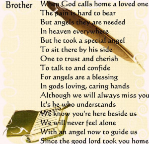 in loving memory quotes child | Brother Memorial Poems by Edgardo