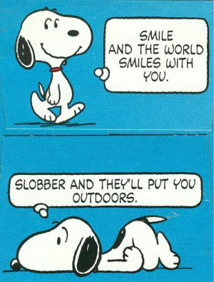 Snoopy Smile Quotes and Sayings