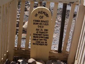 Some of the most memorable grave markers are in Boothill, Tombstone ...