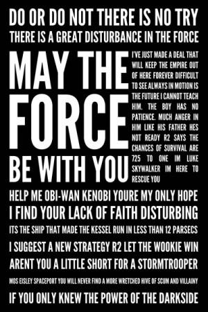 Star Wars Quotes Art Print