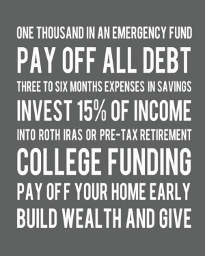 Dave Ramsey Printable - financial plan! Lucky for me we already paid ...
