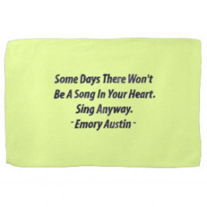 Emory Austin Inspirational Quote Motivational Word Kitchen Towels
