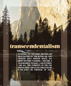 Transcendentalism by Emerson i believe this may be found in Nature
