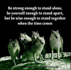 Strong enough to stand alone, yourself enough to stand apart, and wise ...