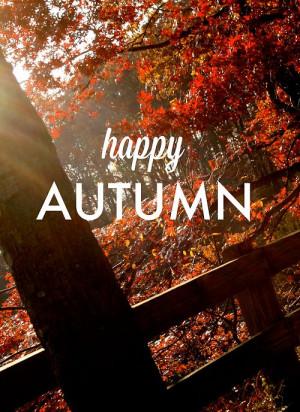 Happy 1st day of Autumn