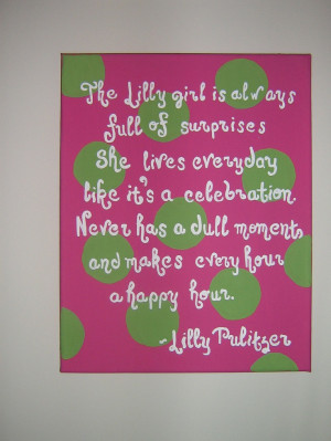 Lilly Pulitzer Quote Canvas. $32.99, via Etsy. NEED.NEED.NEED.