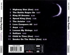 Musica Caratula de Deep Purple Purplexed Del 1998 Trasera