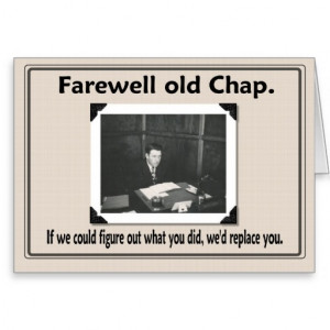 Farewell goodbye coworker greeting cards