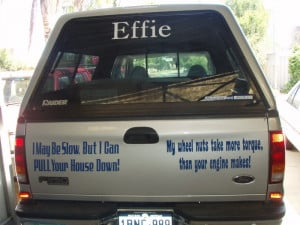 Re: funny truck saying stickers and funny quotes